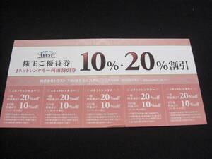 Jネットレンタカー 株主優待 10.20%割引 2022.6