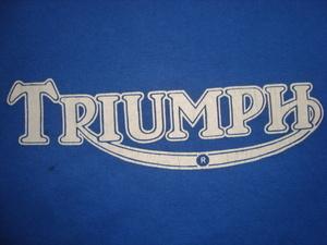 ヴィンテージ vtg 90'S~ USA製 Hanes トライアンフ TRIUMPH ビッグロゴ Tシャツ L シングル