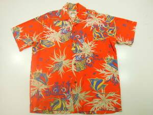 kf9 パイナップルジュース PINEAPPLE JUICE半袖アロハシャツMADE IN HAWAII USA