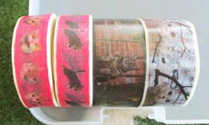 岩合光昭 マスキングテープ 4個セット マステ 猫 cat 中古 岩合さん   masteカモ井製紙mtマークスmarks三宅商店
