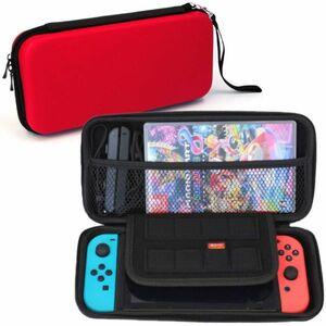 【 1円 】Nintendo Switch ケース レッド 赤 スイッチ ケース 任天堂 スイッチ 保護 収納 大容量 ケース バッグ EVA素材 耐衝撃