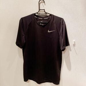 【送料込み】NIKE ナイキ Tシャツ ジャージ 黒 半袖 トレーニングウェア