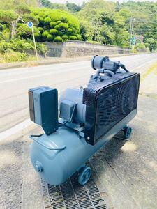 日立 Hitachi エアーコンプレッサー エアーコンプレッサー 5.5P9.5T60Hz 空気タンク BEBICON 全容積 170L 最高使用圧力 11㎏/㎝2