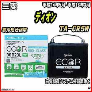 バッテリー GSユアサ 三菱 ディオン TA-CR5W 平成14年5月-平成18年3月 EC90D23LHC
