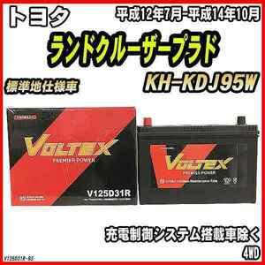 バッテリー VOLTEX トヨタ ランドクルーザープラド KH-KDJ95W 平成12年7月-平成14年10月 V125D31R