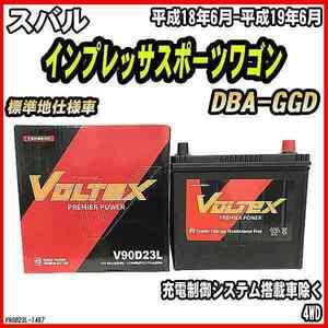 バッテリー VOLTEX スバル インプレッサスポーツワゴン DBA-GGD 平成18年6月-平成19年6月 V90D23L