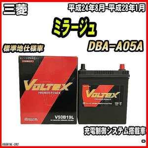 バッテリー VOLTEX 三菱 ミラージュ DBA-A05A 平成24年8月-平成28年1月 V50B19L