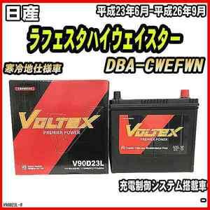 バッテリー VOLTEX 日産 ラフェスタハイウェイスター DBA-CWEFWN 平成23年6月-平成26年9月 V90D23L