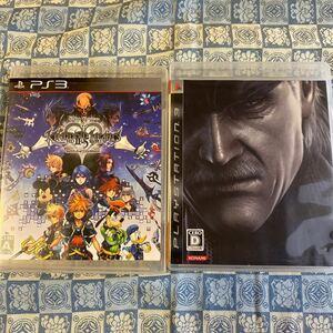 【PS3】キングダムハーツHD2.5リミックス、メタルギアソリッド4(PS3ソフト2本)
