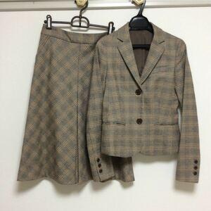 セオリー チェック柄 スカートスーツ テーラードジャケット セットアップスーツ