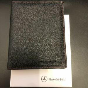 箱付き未使用★Mercedes-Benz メルセデスベンツ/レザー 牛革 オリジナル パスポートケース 純正 ノベルティ★非売品