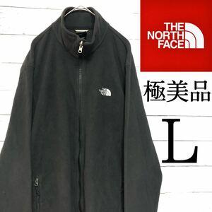 【極美品】L ノースフェイス フリース フルジップ ブラック フリースジャケット THE NORTH FACE