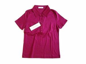 新品 定価2100円 a.v.v アー・ヴェ・ヴェ 紫 ポロシャツ 半袖 シャツ ブラウス 38 M avv イトキン 綿 パープル