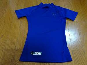 アンダーアーマーUNDER ARMOUR 野球 サッカー インナーシャツ コンプレッションウェア 半袖 [サイズ:Jrサイズ YLG /カラー: 紺系]