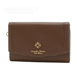 サマンサタバサ プチチョイス 3つ折り財布 コンパクトウォレット レザー ブラウン ブランドピース