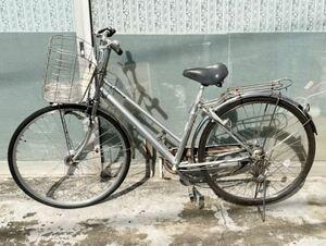 中古自転車★パナソニック27インチ B-9HTSD736S LEDオートライト 一発二錠1本鍵あり 内装3速 通学、通勤自転車