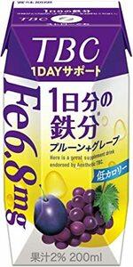 森永 TBC 1DAYサポート 1日分の鉄分 プルーン+グレープ 200ml [ 低カロリー 紙パック ドリンク 飲み物 常温保