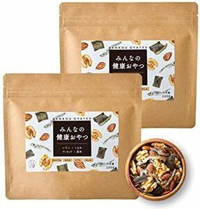 ナチュレライフ みんなの健康おやつ ミックスナッツ 100g&2袋 おつまみ カルシウム DHA 小魚 アーモンド