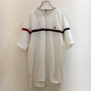 le coq sportif/ルコックゴルフ 半袖 ポロシャツ ゴルフシャツ ゴルフウェア 白 Mサイズ