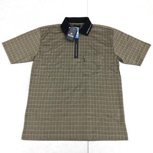 新品 DUNLOP ダンロップ 吸水速乾 ハーフジップ ドライ ゴルフシャツ M ベージュ メンズ 半袖 ポロシャツ 日本製 国内正規品