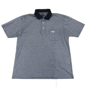 美品 DUNLOP ダンロップ 吸水速乾 ドライ ゴルフシャツ M グレー系 メンズ 半袖 ポロシャツ 日本製 国内正規品