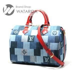 ルイヴィトン Louis Vuitton バッグ スピーディ・バンドリエール30 M45041 2ウェイ デニム・モノグラム 箱・袋付 2020SS 未使用品 送料無料