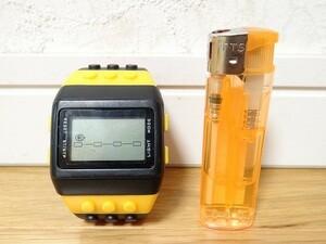 希少 デジタルウォッチ ブロック 赤青黄黒 腕時計 現状