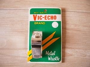 【未使用品】VIC-ECHO「メタルホイッスル」日本製*災害・緊急時・非常用・登山・アウトドア・事故・スポーツ・交通整理・ビンテージ