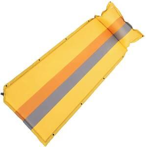 エアーマット 自動膨張式 キャンプマット 厚さ高反発 アウトドアマット 複数連結可能 210Tポリエステル生地 収納袋付き 携帯便利