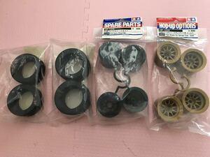 送料無料 タミヤ F104 ラジコン ホイール スポンジタイヤ セット 1/10 フロント リア TAMIYA 未使用