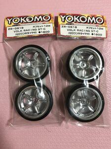 送料無料 ヨコモ ボルクレーシング GT-C ラジコン タイヤホイール セット ドリフト 1/10 YOKOMO VOLK RACING