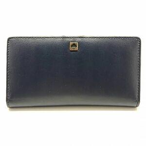 ケイトスペード KATE SPADE 長財布 二つ折り レザー 青 ブルー系 レディース 02-C-21070607