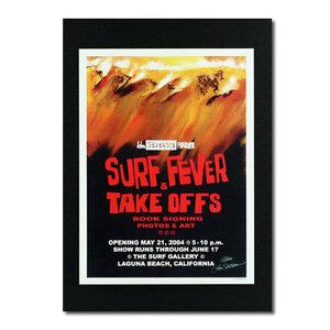 ハワイアンポスター サーフィンシリーズ N-33 SURF FEVER & TAKE OFFS アートサイズ:縦28.8×横21.4cm