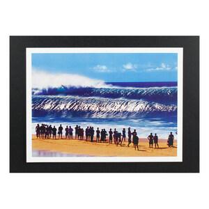 ハワイアンポスター サーフィンシリーズ N-38 BIG WAVE アートサイズ:縦21.5×横29.5cm