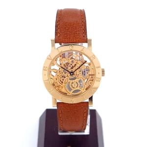 【BVLGARI/ブルガリブルガリ】BB33GLSK イエローゴールド 750YG スケルトン ボーイズ 金 自動巻 腕時計 人気 おしゃれ【中古】/10023506
