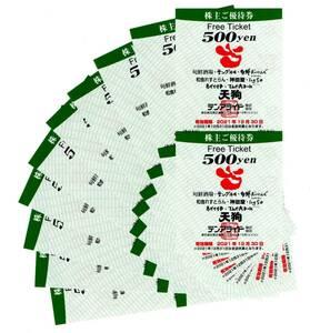 ★テンアライド株主優待券 10000円(500円×20枚)★2021年12月30日まで有効