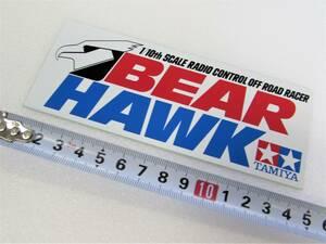 未使用品 当時もの タミヤ 1/10 ベアホーク BEAR HAWK ステッカー ラジコン R/Cカー レーシング シール デカール 京商 m