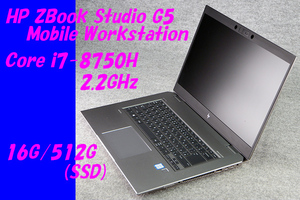 O●HP●ZBook Studio G5 Mobile Workstation●Core i7-8750H(2.2GHz)/16G/512G(SSD)/Win10●