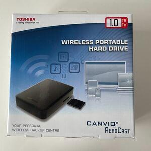 【東芝 TOSHIBA キャンビオ AeroCast】HDTU110EKWC1 1TB ネットワークストレージ wi-fi接続 ワイヤレス ポータブル Canvio 新品