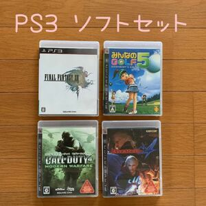 PS3ソフト CALL OF DUTY4、FINAL FUNTASY 、DEVIL MAY CRY みんなのGOLF5