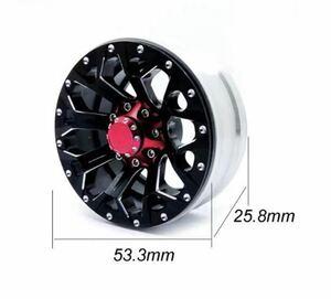 新品送料無料 4本セット金属製ビードロック1.9インチホイール ハブ径12mm クローラー アキシャル トラクサス タミヤ scx10 trx4 cc02