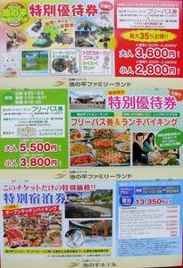 ★長野 信州 ファミリーランド 特別優待券・宿泊券 3種 クーポン