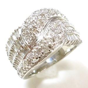 J◇Pt900 新品仕上!ゴージャス!ダイヤモンド2.0ct プラチナ リング 指輪 14号 ダイヤ テーパーバケット 美品