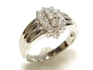 J◇Pt850 新品仕上済!豪華!ダイヤモンド 0.5ct プラチナ リング 指輪 16号 ダイヤ エレガント フォーマル