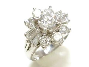 J◇Pt900 新品仕上済!豪華大粒!ダイヤモンド 2.0ct プラチナ リング 指輪 7号 鑑定書付 ダイヤ