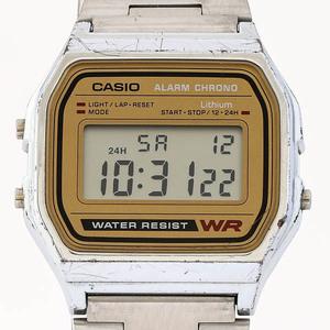 CASIO カシオ チープカシオ A158WE デジタル 腕時計 メンズ ゴールド文字盤 ステンレススチール #28372