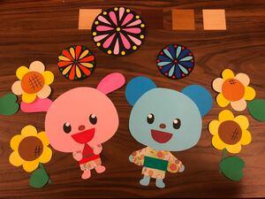 壁面飾り 夏祭り  幼稚園 保育園 施設病 ハンドメイド