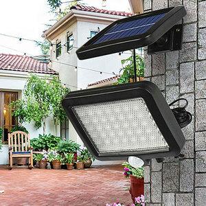 56 LED 屋外 ソーラー ウォール ライト センサー ソーラー ランプ 防水 赤外線 センサー ガーデンライト