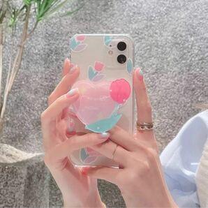☆新品未使用品☆【送料無料】 iPhone12 iPhone12pro iPhoneケース お花 かわいい スマホスタンド