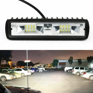 2 個suvの作業灯電球スポットビームバーled車オフロードドライビングフォグランプ新ヘッドライト車 18 ワット 1